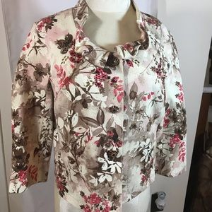 St John Silk Floral cocktail Jacket size 10!